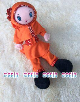 Boneka Muslimah Meela Meelo Orange