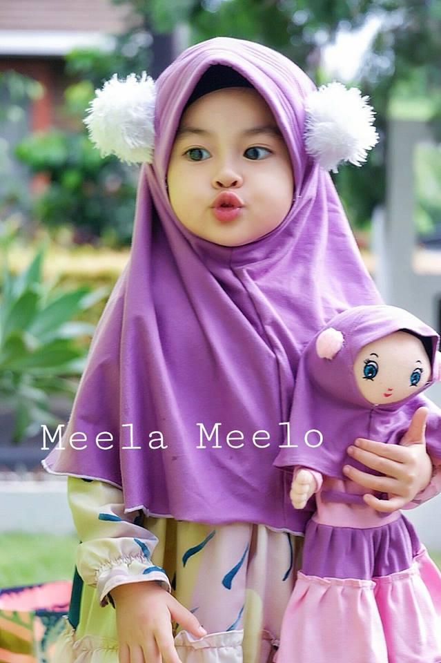 Hijab Aqila Purple Trendy untuk Anak Muslimah