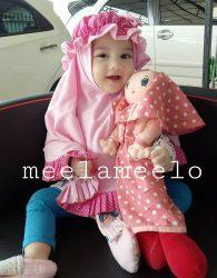 Asesoris Hijab Anak Kekinian Topi Polka in Pink