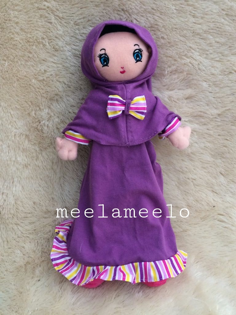 Boneka Muslimah Meela Meelo Purple in Simple Style