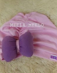 Turban Anak Lucu Turban Sabiyah Pita in Light Pink