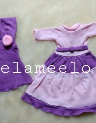Baju Boneka Muslimah in Two Colors Dark and Light Purple