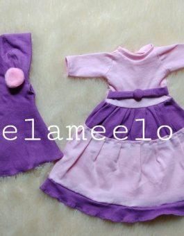 Baju Boneka Muslimah in Two Colors Dark and Light Purple