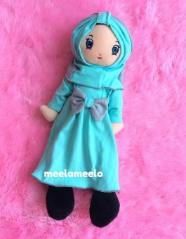 Boneka Muslimah Meela Meelo Pure Blue