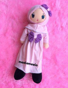Boneka Muslimah Meela Meelo Pure Pink