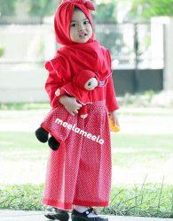 Paket Gamis Anak dan Boneka Muslimah Best Seller