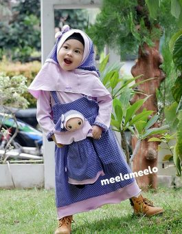 Paket Gamis Anak dan Boneka Muslimah Kekinian