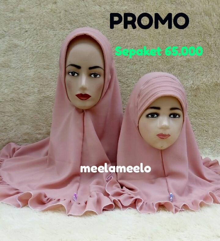 Paket Jilbab Khimar Instan Antem Couple Bunda Anak