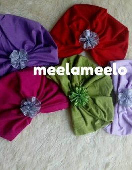 Turban Anak Muslimah Kekinian Ready in Red Purple and Green