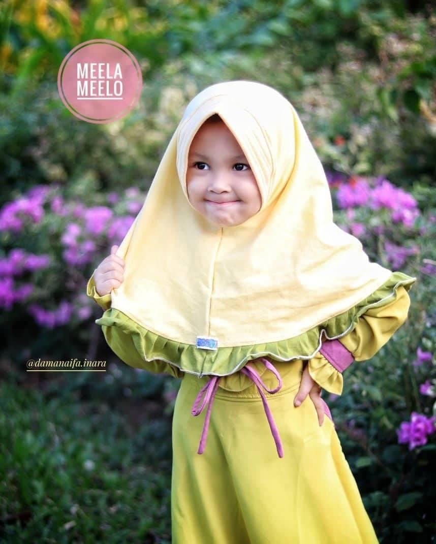Jilbab Anak Muslimah Terbaru in Yellow