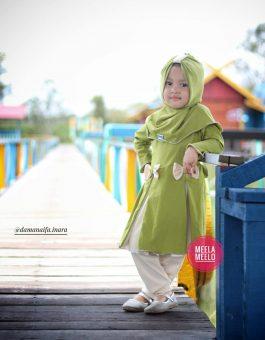 Gamis Anak Muslimah New Serie Naura in Green