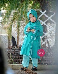 Gamis Anak Muslimah New Serie Naura in Tosca