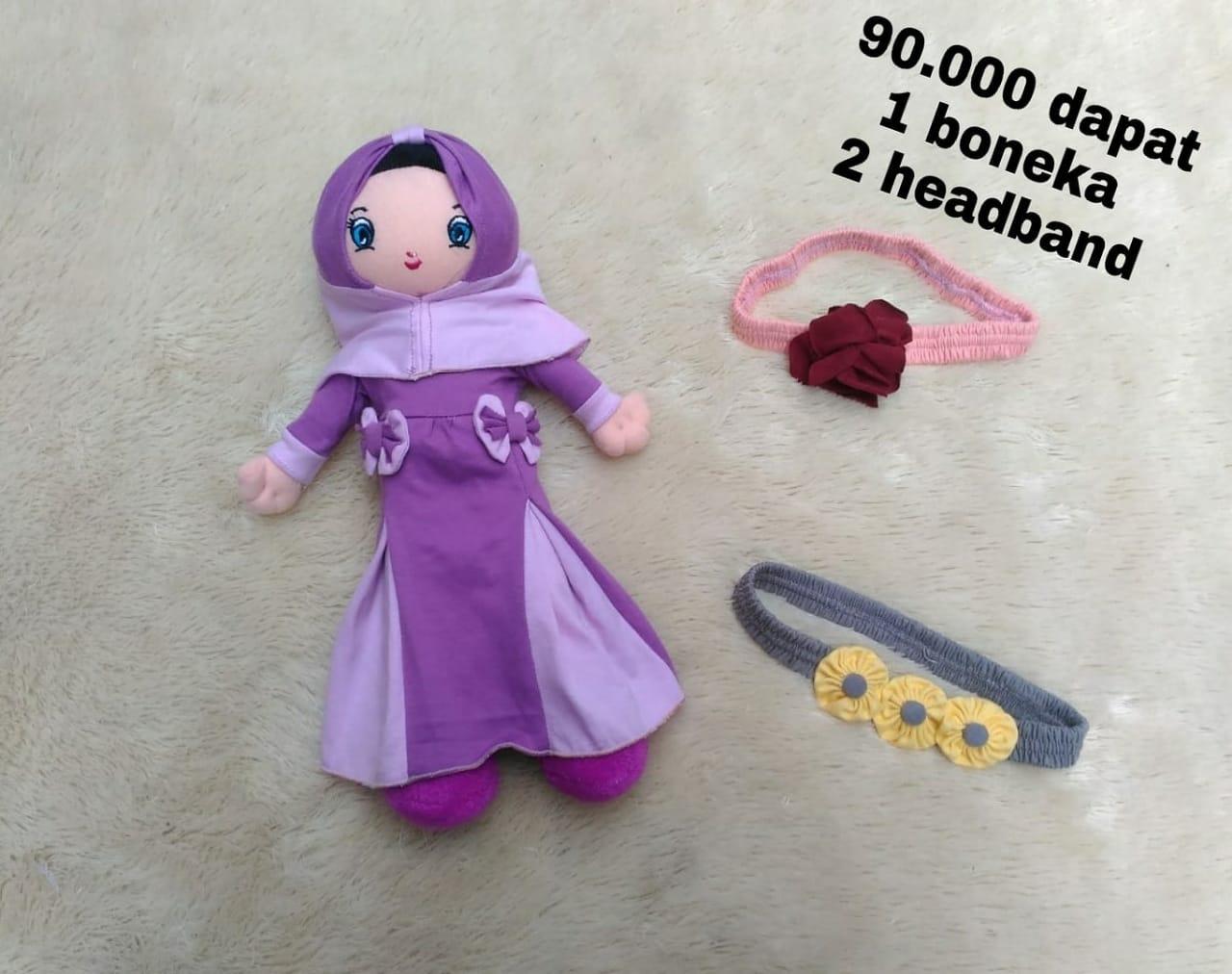 Paket Hemat Boneka Muslimah dan Headband