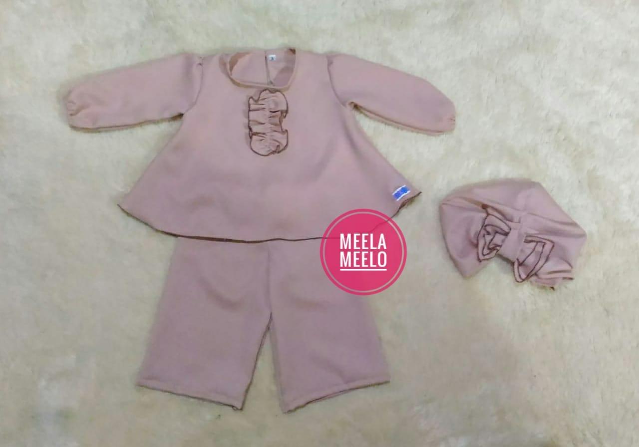 Set Baju Celana Kulot dan Turban Anak Terbaru