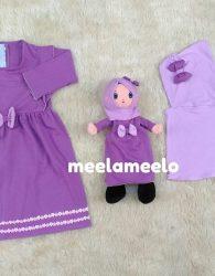 Jual Paket Busana Muslimah Anak Dengan Boneka