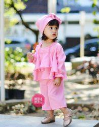Paket Kulot Anak Ghania in Pink