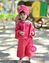 Paket Kulot Jual Paket Kulot dan Turban Anak Muslimah MurahGhania in Red