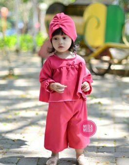 Paket Kulot Anak Ghania in Red