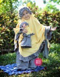 Paket Mukena dan Tas Anak in Yellow Grey