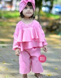 Best Selling of the Month Set Kulot Ghania in Pink