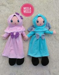 Boneka Anak Muslimah Dusty Pink and Tosca Edition