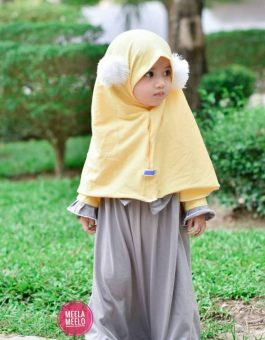 Gamis Pompi in Grey and Yellow