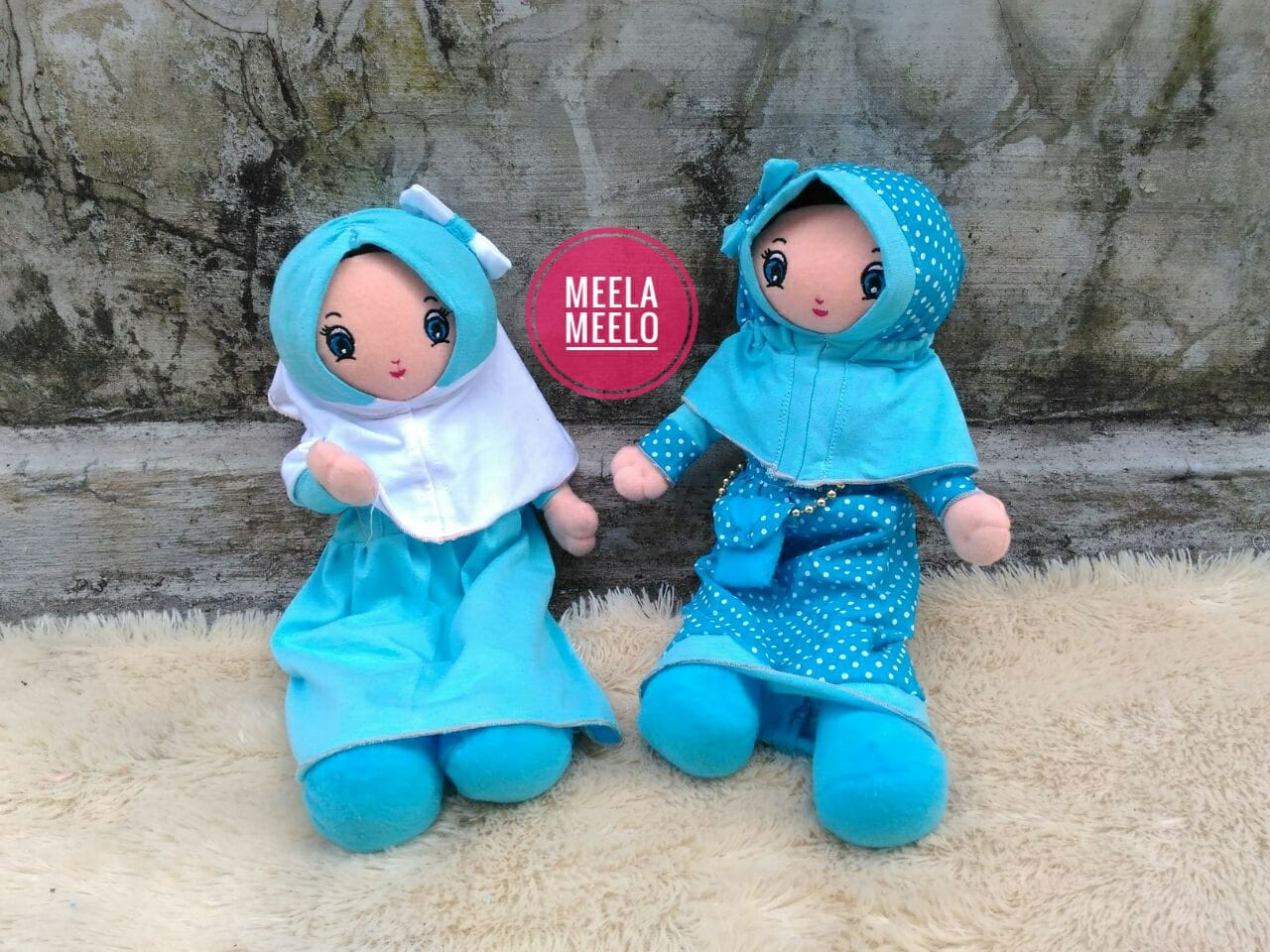 Boneka Anak Muslimah Blues Edition