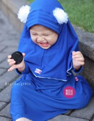 Jual Jilbab Anak Paling Hits Model Pompom
