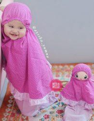 Paket Mukena Motif Anak dan Boneka Muslimah in Pink