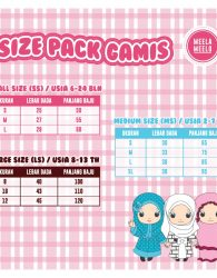 size pack gamis