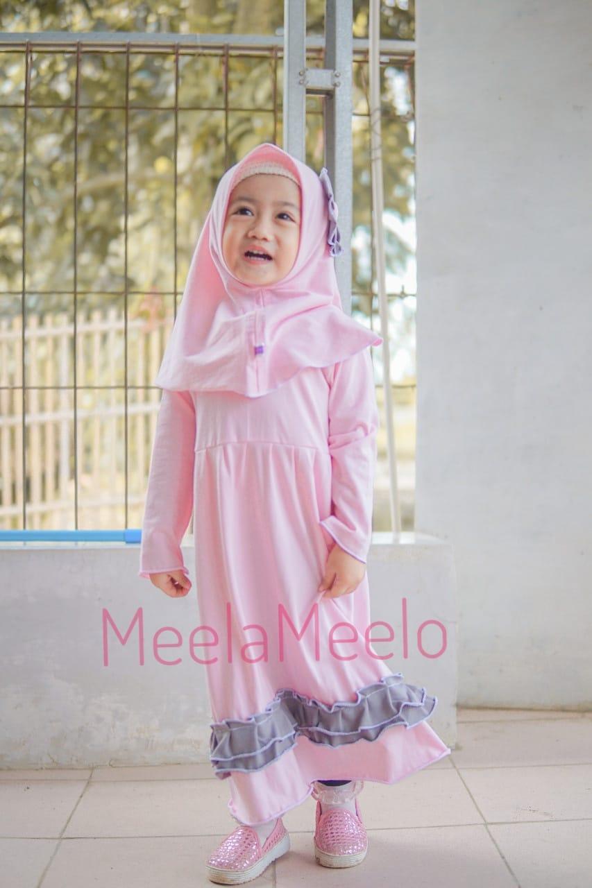 Gamis Natasya Untuk Anak Muslimah in Dusty Pink