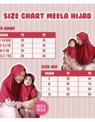 Size Chart Meela Hijab