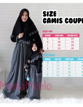 Gamis Couple Mom and Kids Annisa Model Salur