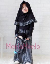Paket Gamis Salur Anak dan Boneka Muslimah