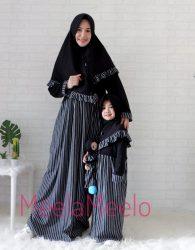 Promo Paket Gamis Mom and Daughter Model Salur