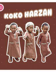Baju Muslim Anak Koko Harzan Free Kopiah Ready Stock