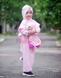 Paket Set Tunik Anak dan Boneka Muslimah Murah