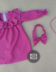 Paket Hana Dress Murah Meriah Ready Warna Ungu