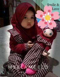 Promo Beli 1 Set Gamis Anak Gratis Boneka Muslimah