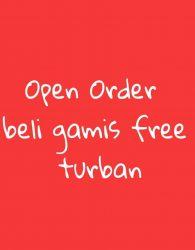 Open Order Paket Hemat Gamis Anak Free Turban