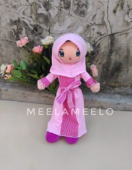 Promo Boneka Muslimah in Pink Purple 60K ONLY