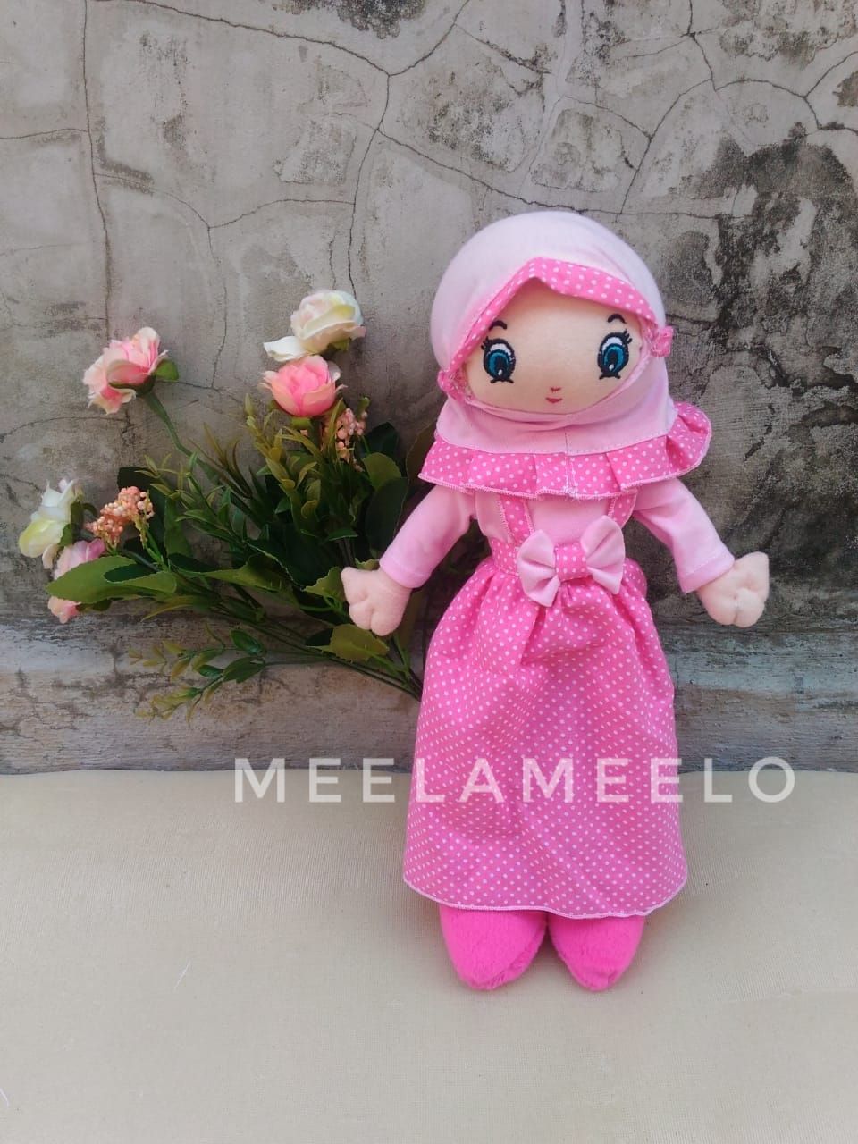 Promo Boneka Muslimah in All Pink Polka  60K ONLY