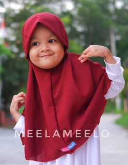 Edisi Promo Jilbab Anak in Red Wine