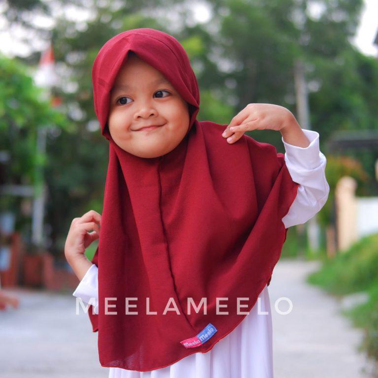 Edisi Promo Jilbab Anak in Red Wine