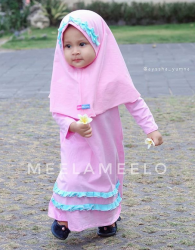 Gamis Anak Lollypop Pink Candy