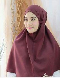 Jilbab Instan Tali in Burgundy
