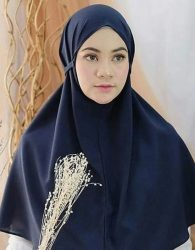 Jilbab Instan Tali in Dark Blue