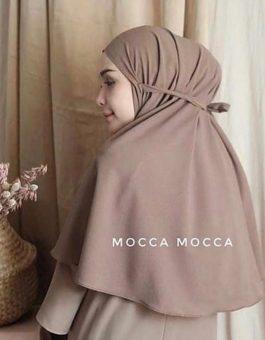 Jilbab Instan Tali in Mocca