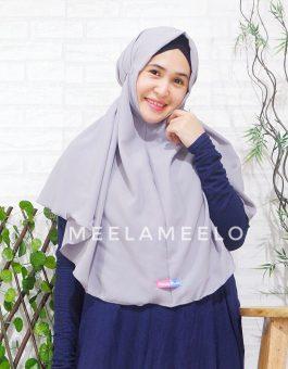 Jilbab Instan Tali in Grey