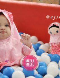 Paket Mukena Anak dan Boneka Muslimah in Pink Polkadot